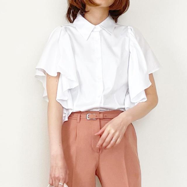 春の白シャツ4スタイル全てお見せします!【tomomiyuコーデ】_1_12