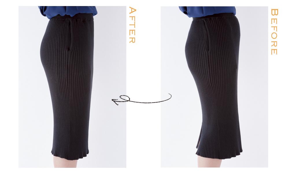 Q.「ニットスカートの後ろ姿に自信がありません」【「ニットセットアップの落とし穴」攻略法】_1_3