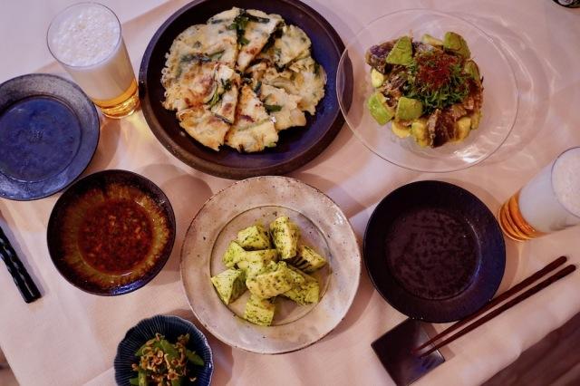 韓国料理 チヂミ 晩酌ごはん