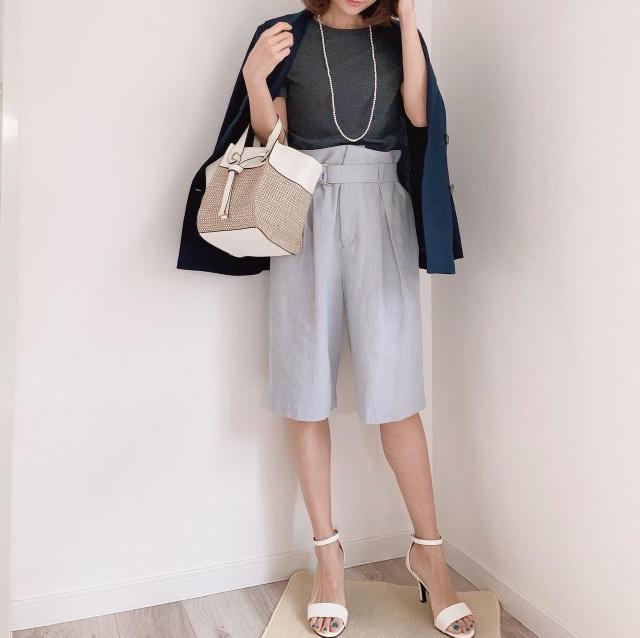 アラフォーのハーフパンツコーデ【momoko_fashion】_1_1-2