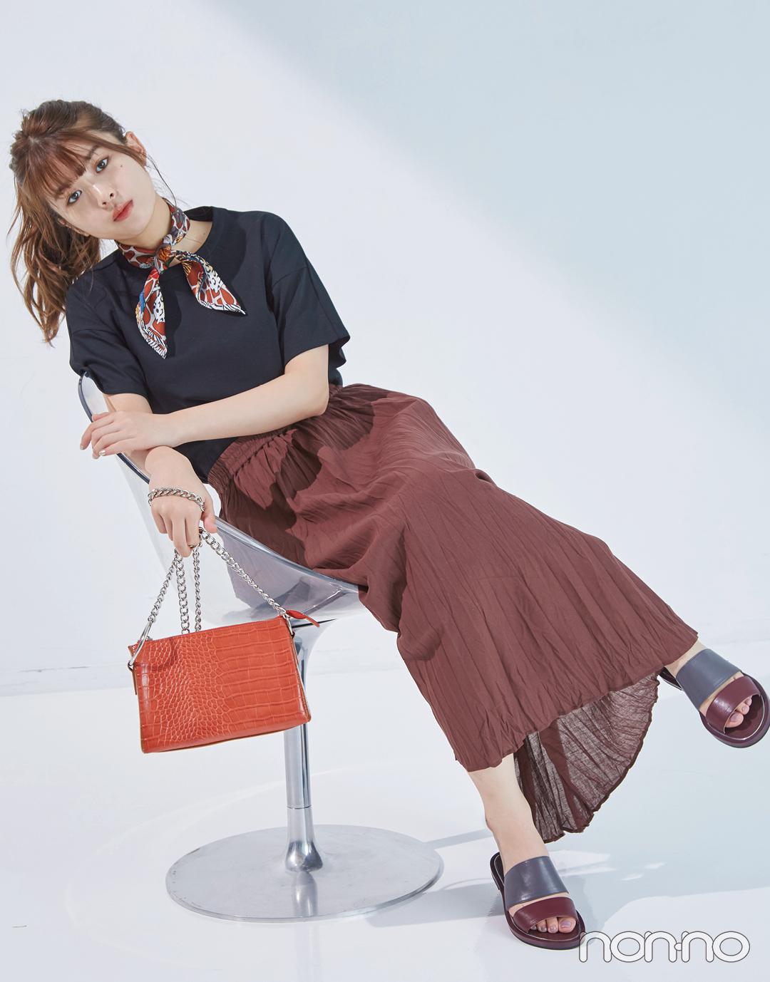馬場ふみかが着る♡ 黒のシンプルTシャツの新鮮コーデ4選!_1_3-3