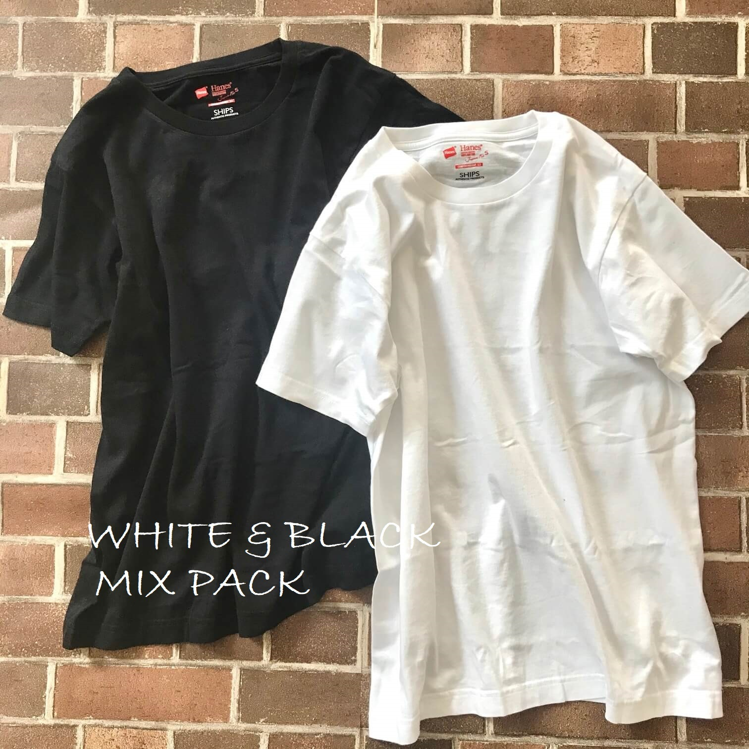 ヘインズのTシャツ2枚並列画像