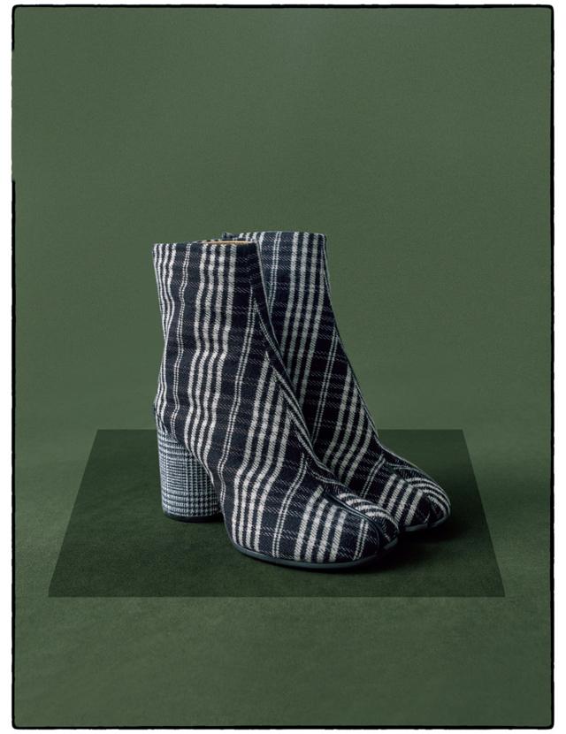 メゾン マルジェラのチェック柄「タビ」ブーツ