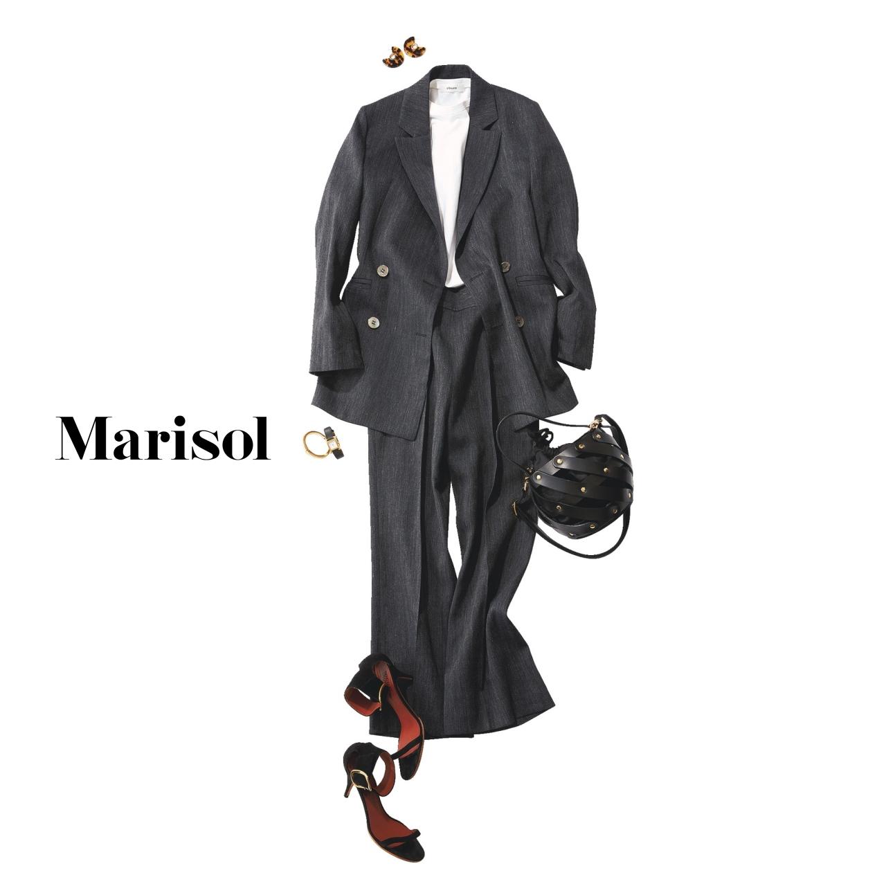 40代ファッション ジャケット×パンツコーデ
