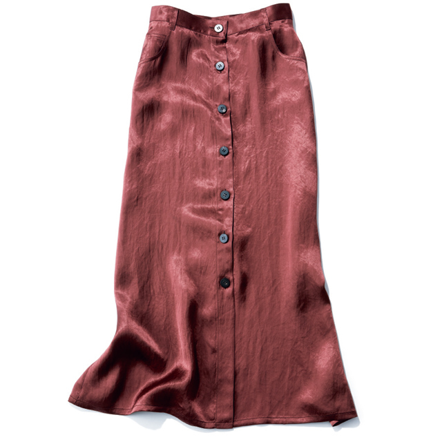 台形スカート スカート¥42,000/ユナイテッドアローズ 六本木ヒルズ店(サヤカ デイヴィス)