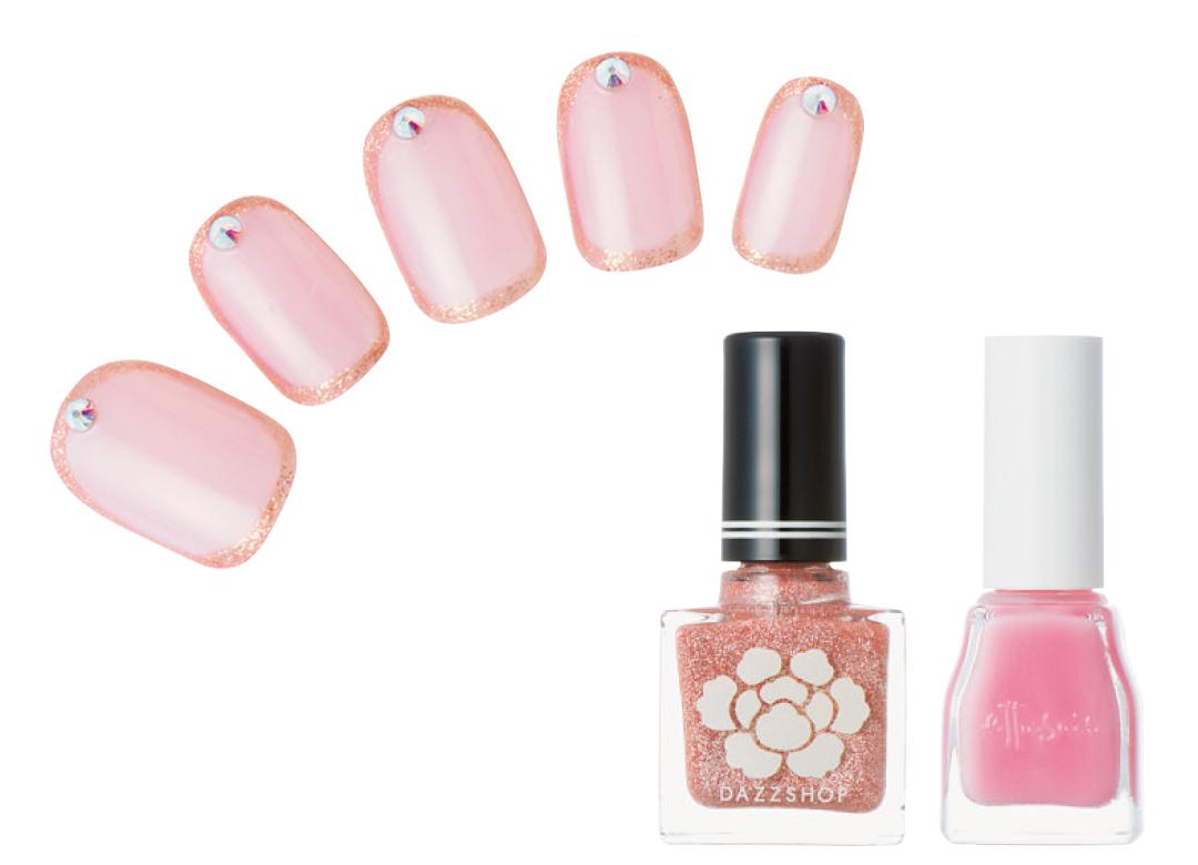 春の好感ネイル、優しく見せたいなら薄ピンクが正解★最旬デザインをチェック!_1_4-2