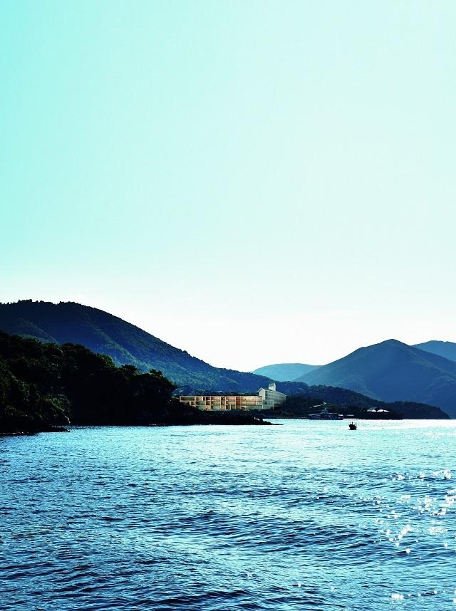 ホテルがあるのは、海士町の菱浦港からすぐ