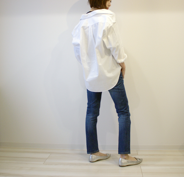 UNIQLOのデニムオーバーシャツで40代のエフォートレスコーデ_1_8
