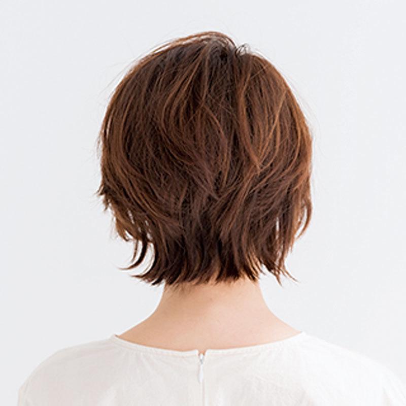 レイヤーを入れて軽やかに。 おしゃれ感ある清楚なフレアショート【40代のショートヘア】_1_1-3