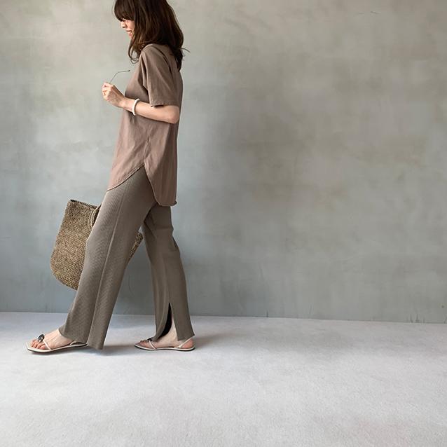 夏のブラウンで品よくこなれる! 大人のプチプラ高見えも叶えるブラウンコーデまとめ 40代ファッション_1_18