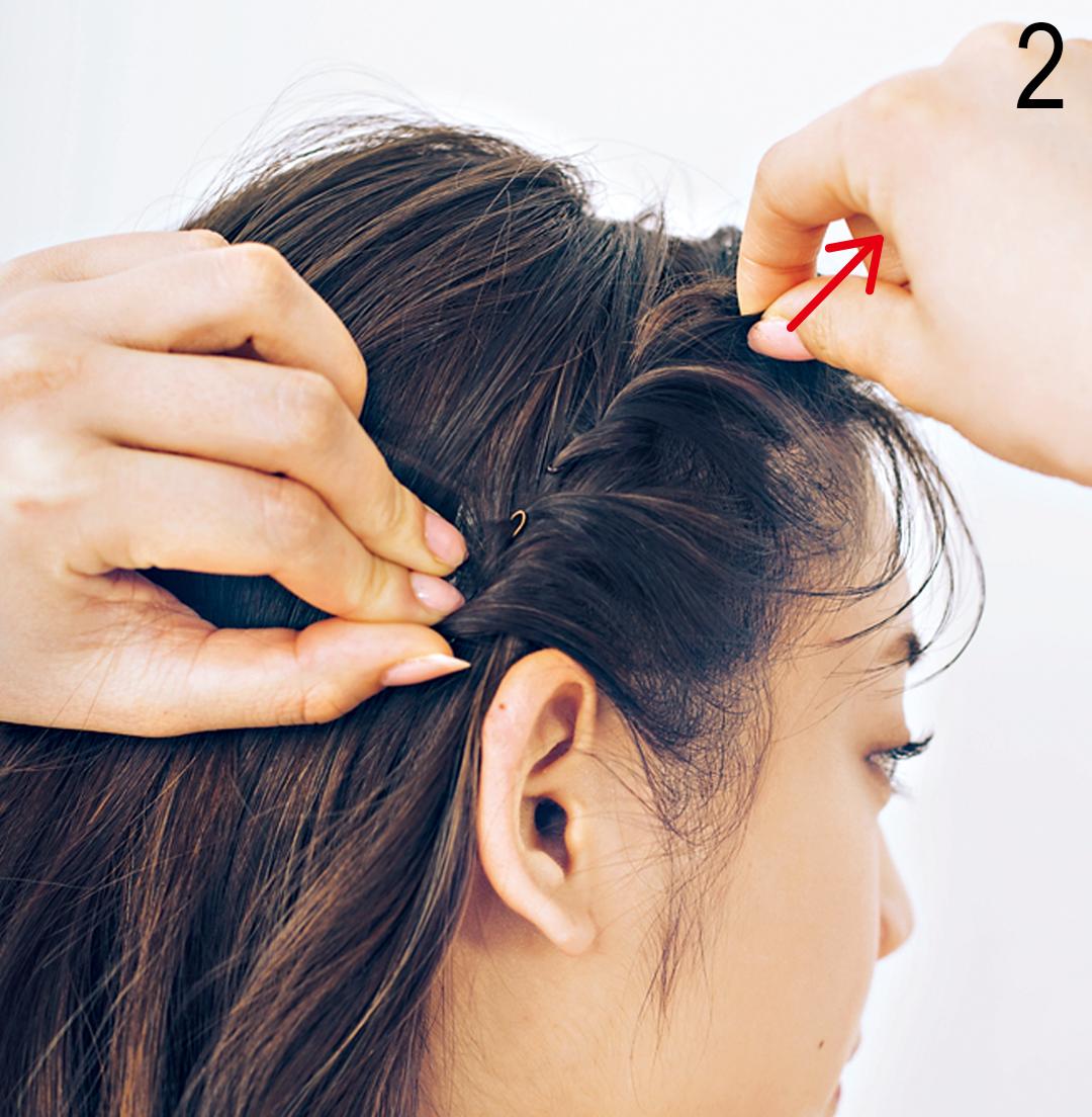 飲食バイトのヘアアレンジ★ まとめ髪でも可愛さキープならコレ!_1_3-2