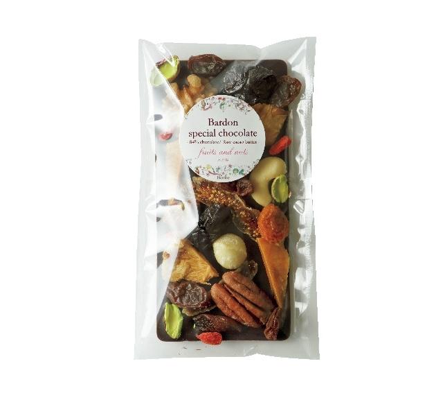 「ドライフルーツ&ナッツの板チョコレート」¥1,512(税込)