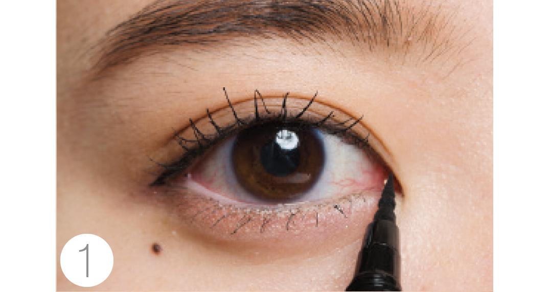 奥二重さんのお悩みは、目の「縦幅強調」アイメイクで解決!_1_3-3