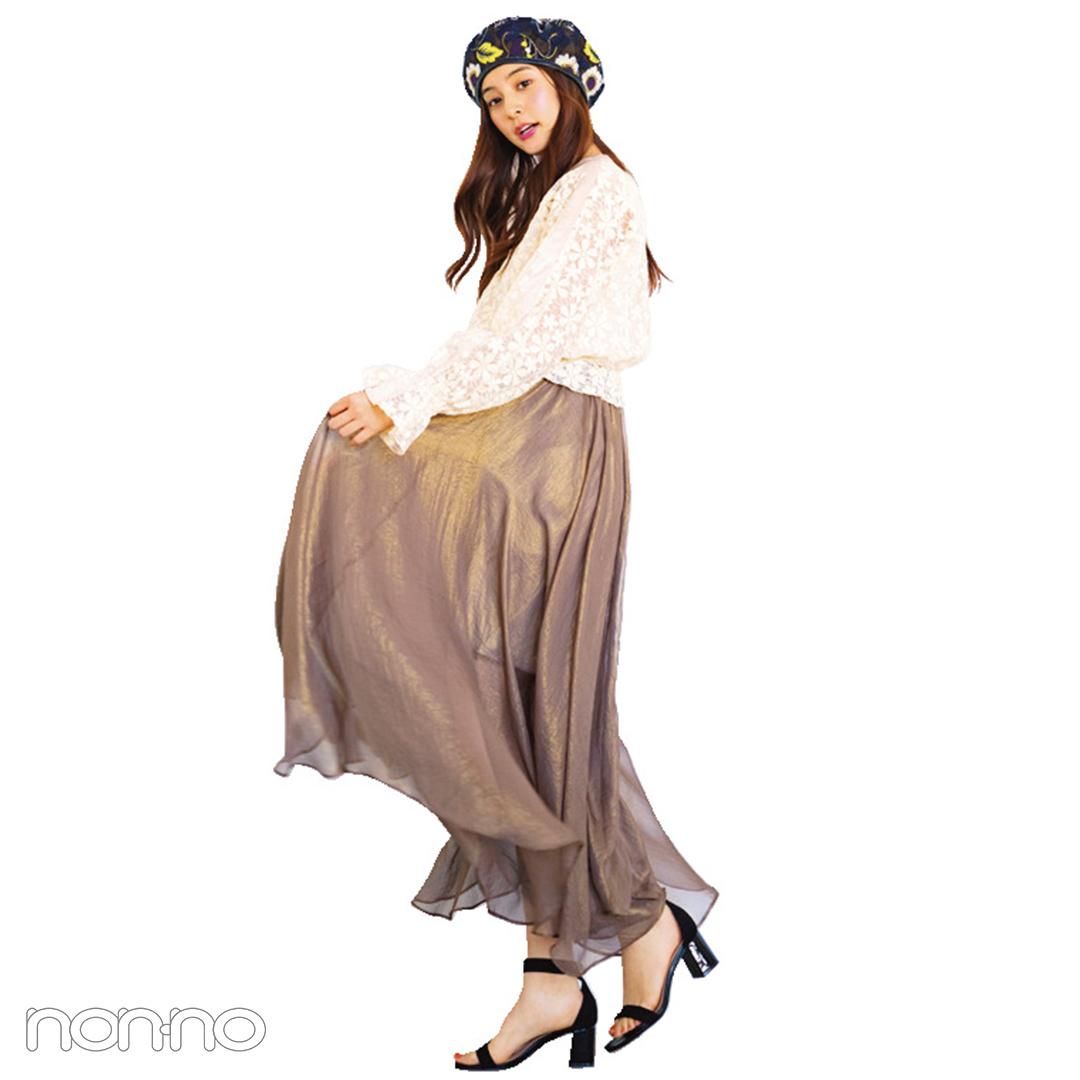 爽やかストライプスカートを黒・白・赤小物でフレンチガールな気分に【毎日コーデ】_1_2-3
