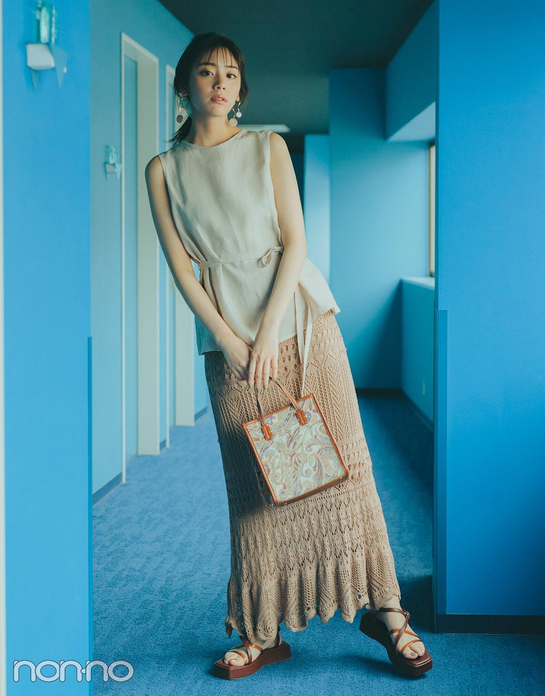 『貴島明日香』の『クロシェスカート』モデルカット4−1