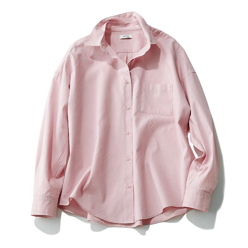 """大人の可愛げ""""くすみピンク""""シャツは、肌なじみの良さで選んで_1_2-4"""