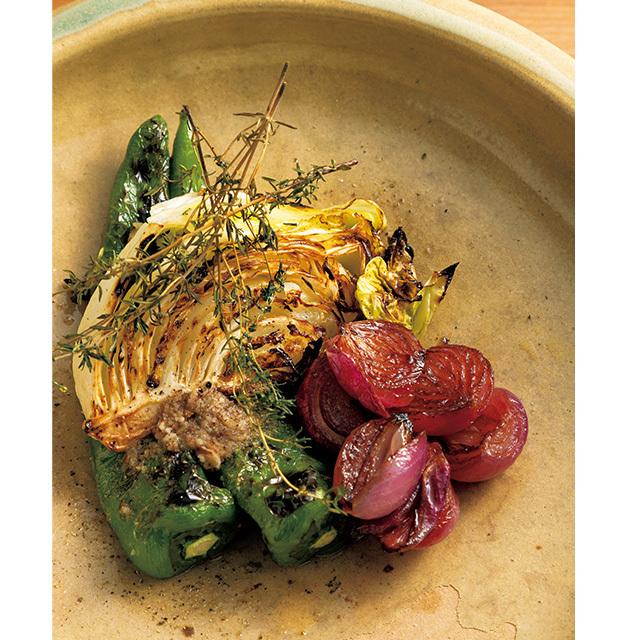 京都の東山にあるフレンチレストラン「デュプリー」の野菜の盛り合わせ