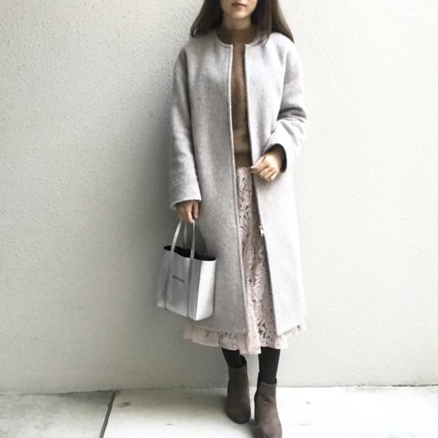 くすみピンク×ブラウンの今っぽ配色で冬の休日スタイル_1_2