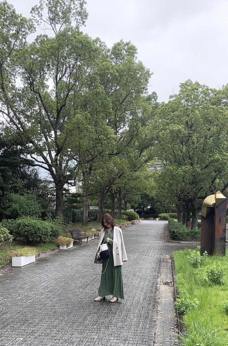 大草直子さんコラボの揺れるワンピースを秋コーデしてみました Part1_1_3