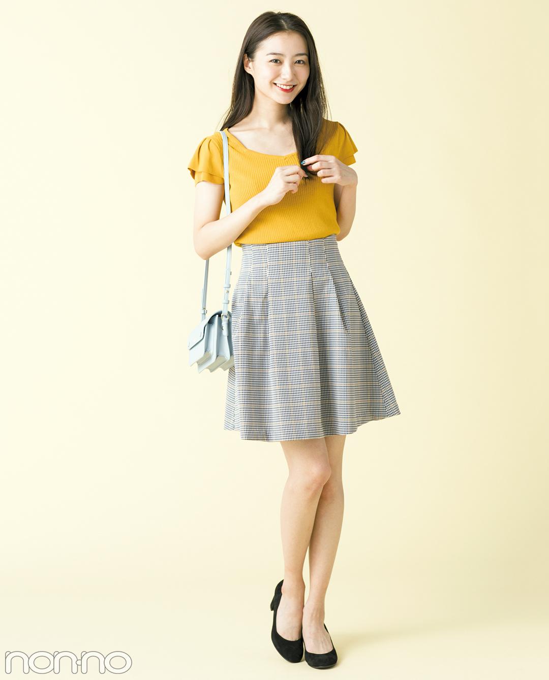 秋の最新★グレンチェックのひざ上スカート、大人っぽコーデ3選!_1_1-2