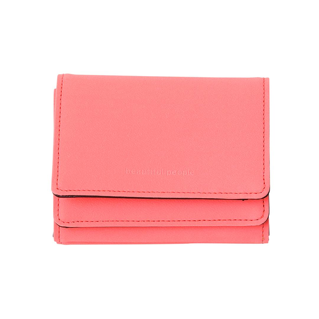三つ折り財布「リフレクトレザーコンパクトウォレット」¥22000/ビューティフルピープル 渋谷パルコ(ビューティフルピープル)