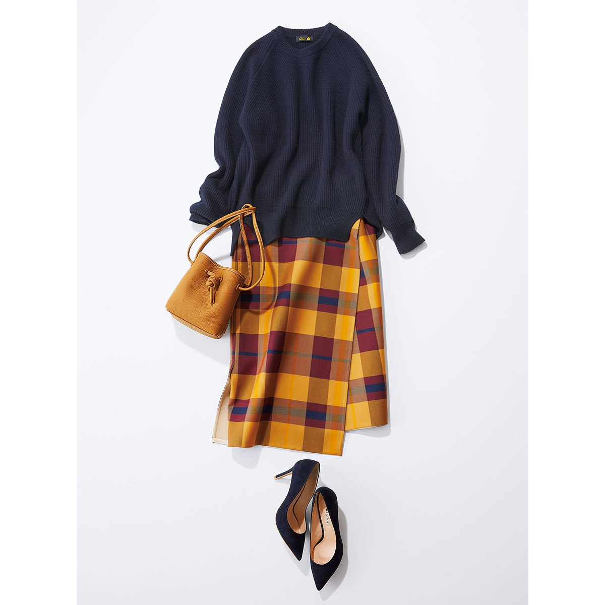 スカート型ニットセットアップ_3