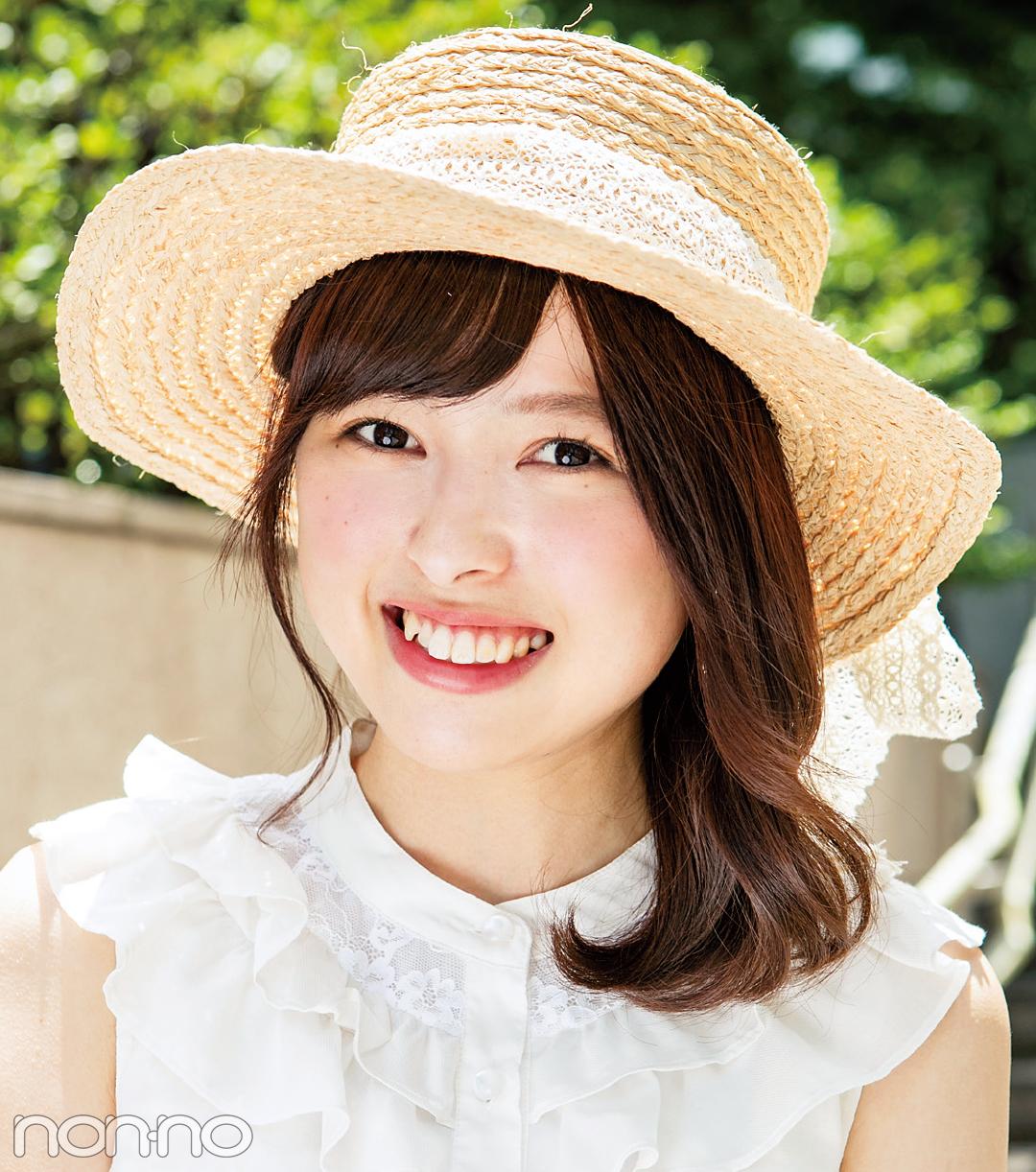 リアルなお手本♡ non-no専属読モ・カワイイ選抜の夏の帽子スナップ!_1_2
