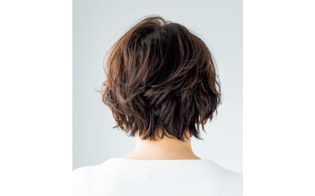 部分パーマでふんわり髪と動きを一挙両得 バック