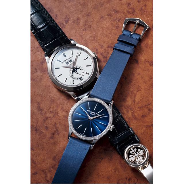メカ好きの男性と一緒にパテック フィリップの時計