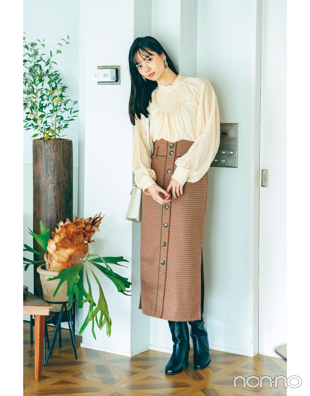 新川優愛の冬の推し服★ チェックのスカートはこう着こなす!_1_2