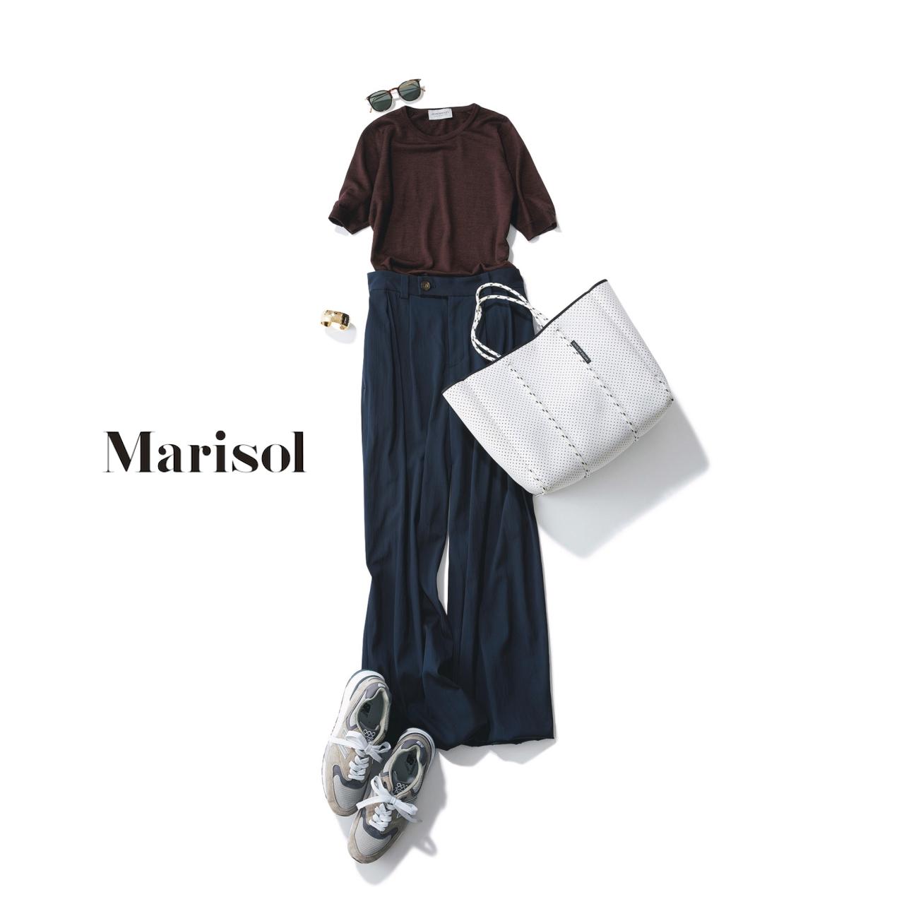ファッション スニーカー×ワイドパンツコーデ