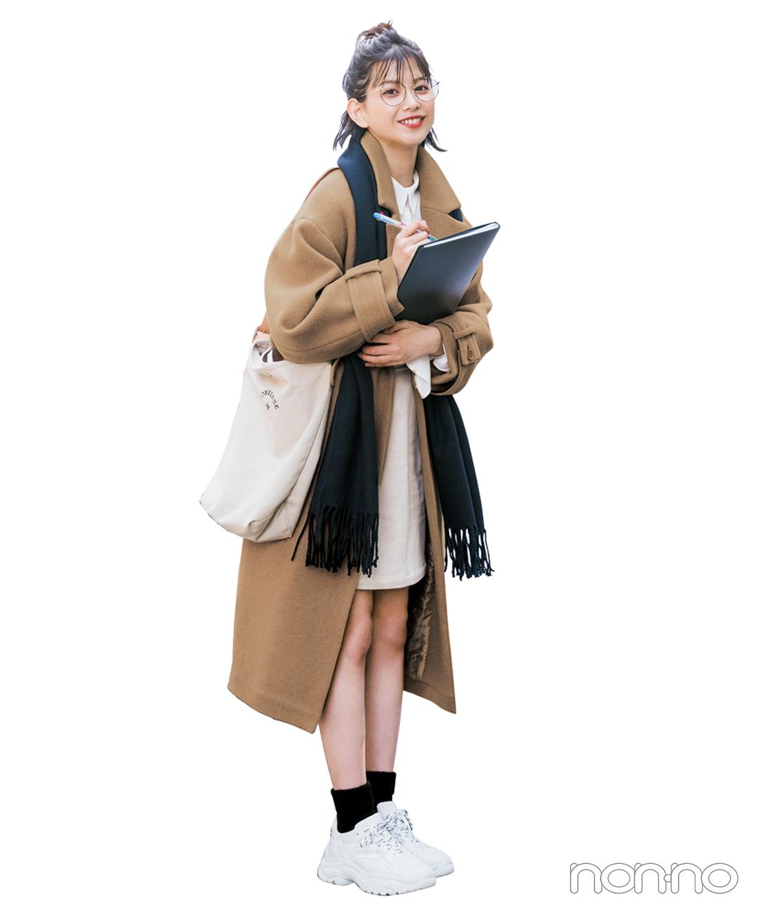 【冬のスニーカーコーデ】図書館で勉強DAY。グッドガールにまとめて形から気合い入れるぞ!
