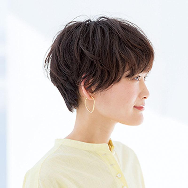 短くても柔らかい動きが映える無造作な柔髪ニュアンスショート【40代のショートヘア】_1_1-2
