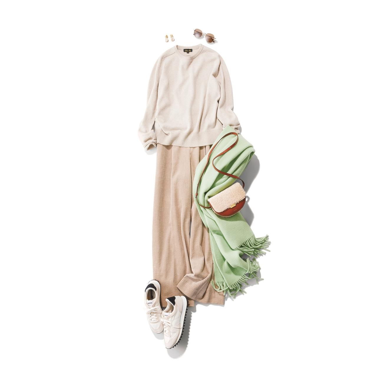 真冬コーデの差し色はコレ!グリーンに注目|40代 2020冬ファッション_1_8