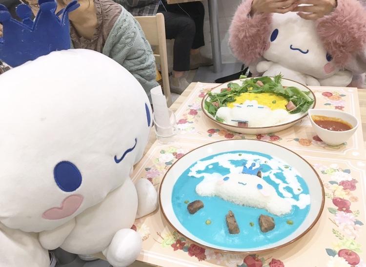 シナモロールカフェの青いメニューが気になる♡_1_1
