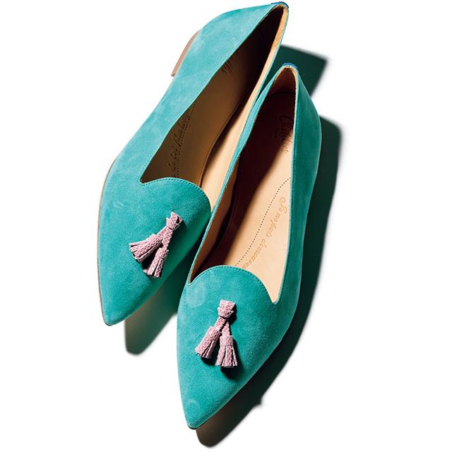 """フランスのブランド""""シャテル""""のキュートなフラット靴"""