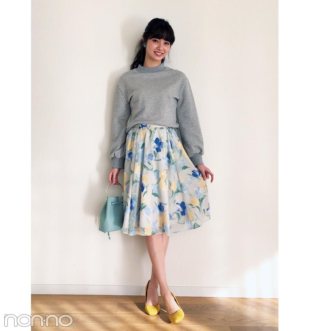 新川優愛の花柄スカートスタイルが可愛すぎる!【毎日コーデ】_1_1