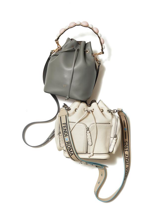 フェンディの「モン トレゾール」バッグとストラップ