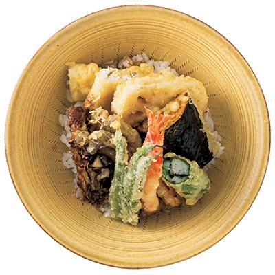 綿実油を使用し、素材の味を引き立たせる 「点邑の天ぷらどんぶり」_1_1