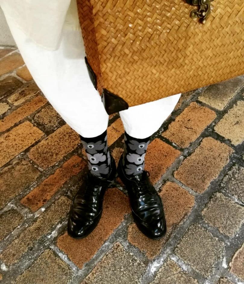 marimekkoとZARAのオジ靴。エクラっぽくない…(^^;