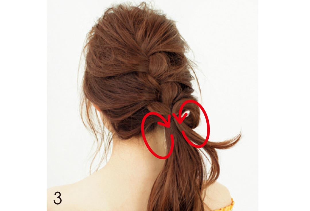 デートのヘアアレはちょい色っぽ♡ ゆる編み込みで!_1_3-3