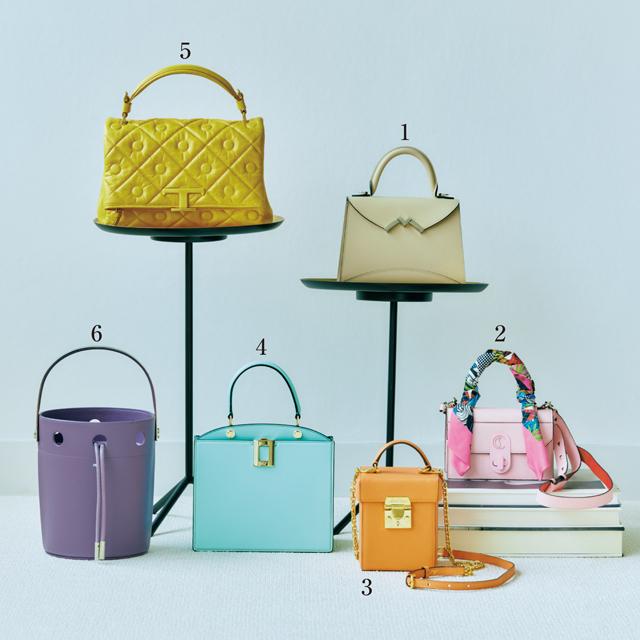 きれい色のワンハンドルバッグ