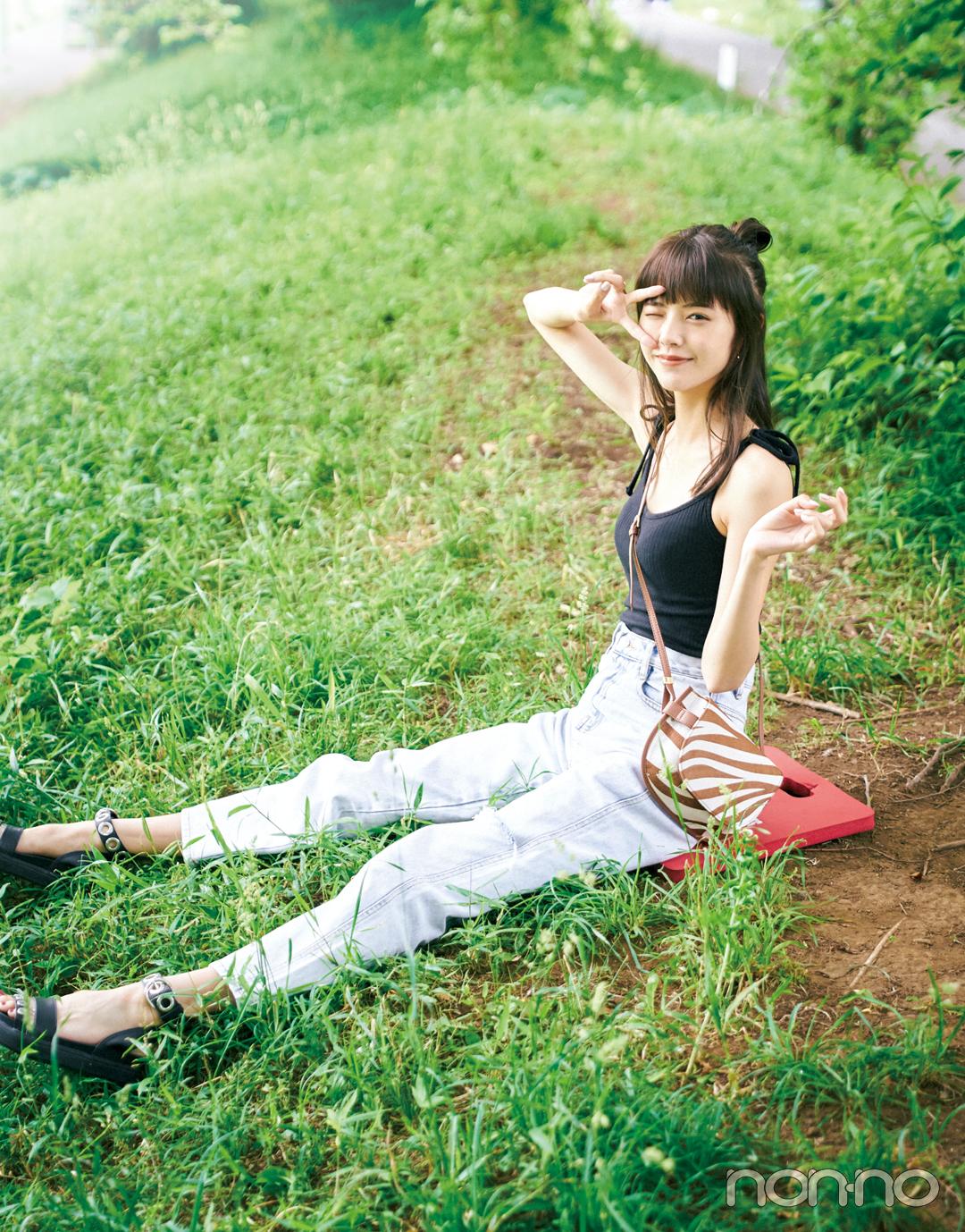 「オオカミちゃん」出演で人気急上昇! 鈴木ゆうかのフェスコーデ&夏メイク_1_2