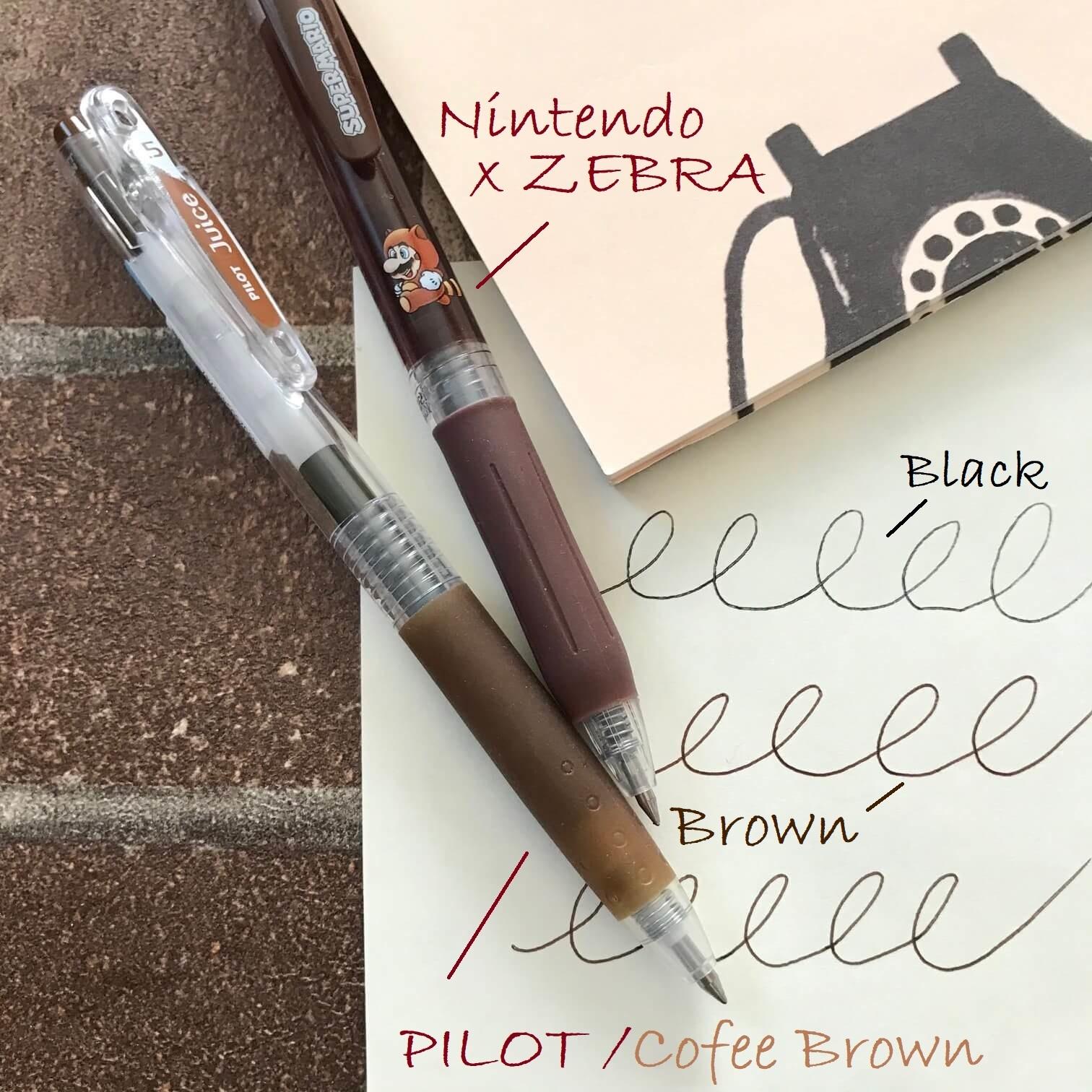 ブラウンの細ペン使用例