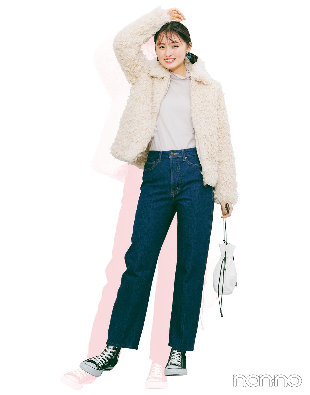 三女・遠藤さくらは「ハイウエストストレート」で今っぽスウィートに①【坂道3姉妹のデニム】_1_7