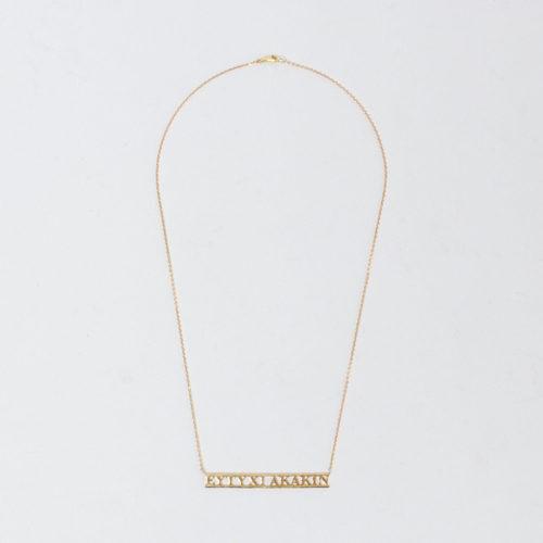 GIGI Inscription necklace(EYTYXI AKAKIN)