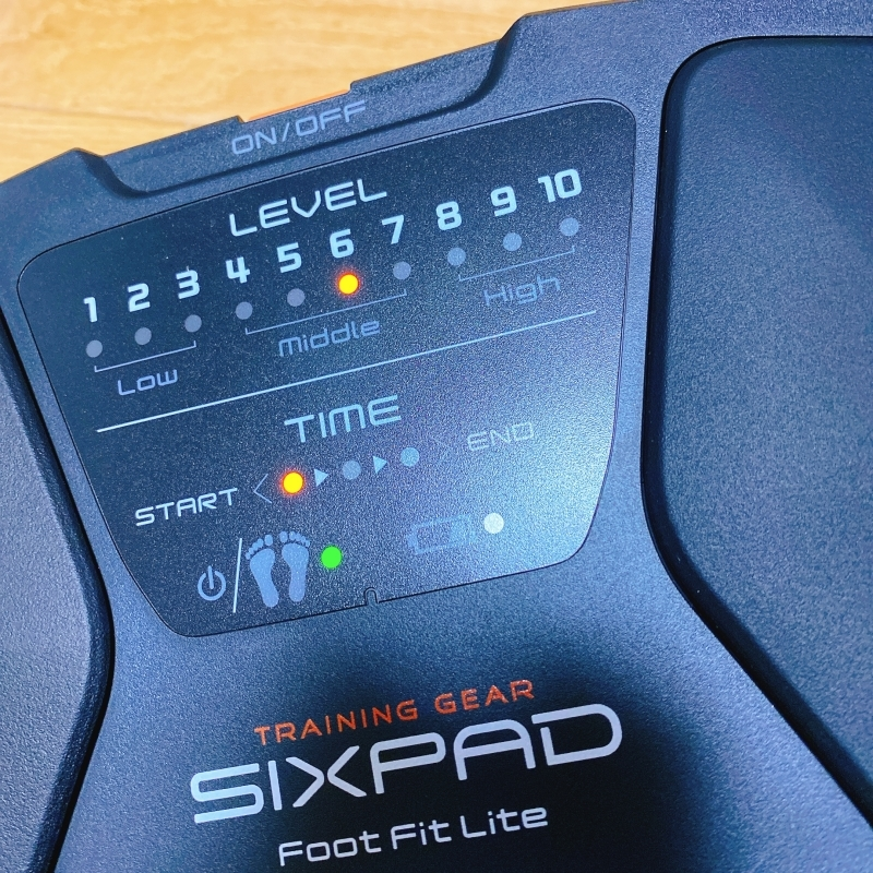 SIXPADのFootFitLiteはトレーニングレベルが10段階