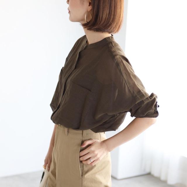 秋色シアーシャツでマニッシュコーデ【tomomiyuコーデ】_1_3