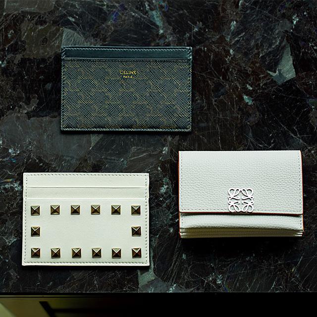 セリーヌ、ロエベ、ヴァレンティノのカードケース