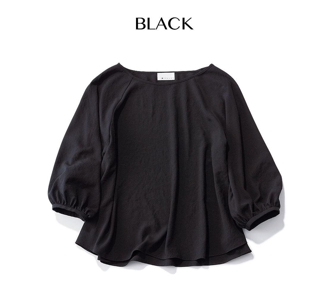 エムセブンデイズの着映えブラウス_ブラック